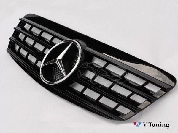 Решётка MERCEDES S W220 (1995-2002) - чёрная глянцевая - CL стиль 3