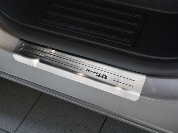 Стальные накладки на пороги VW T6 (2015-) Польша