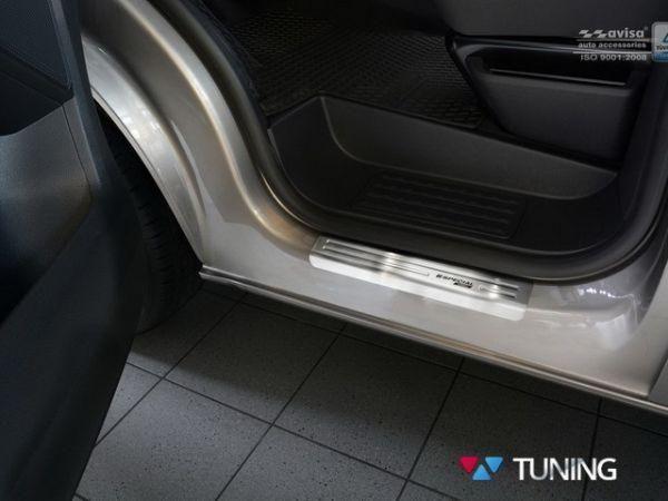 Стальные накладки на пороги VW T6 (2015-) Польша - фото #2