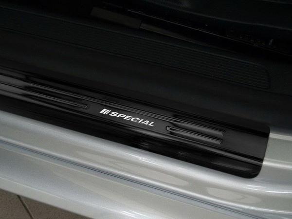 Чёрные накладки на дверные пороги VW Passat B7 - AVISA - передние