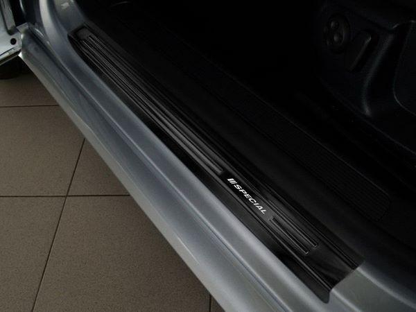 Чёрные накладки на дверные пороги VW Passat B7 - AVISA - задние