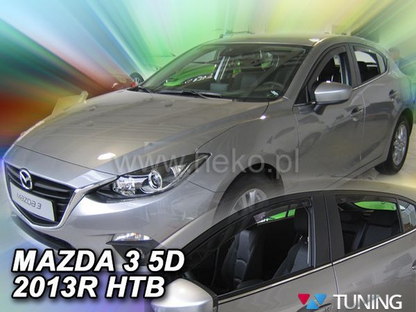 Ветровики MAZDA 3 (BM) (2013+) Hatchback - HEKO