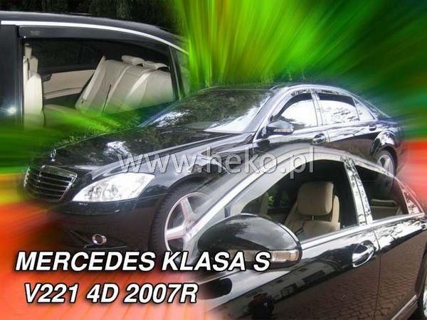 Ветровики MERCEDES S W221 (07-13) USA HEKO