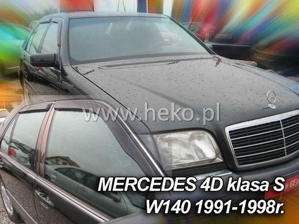 Ветровики (дефлекторы окон) MERCEDES W140 - HEKO