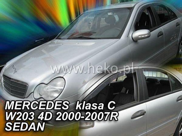 Ветровики MERCEDES W203 Sedan - HEKO вставные 1