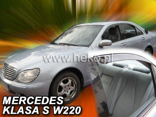 Ветровики (дефлекторы окон) MERCEDES S W220 Short / Long - HEKO - задние