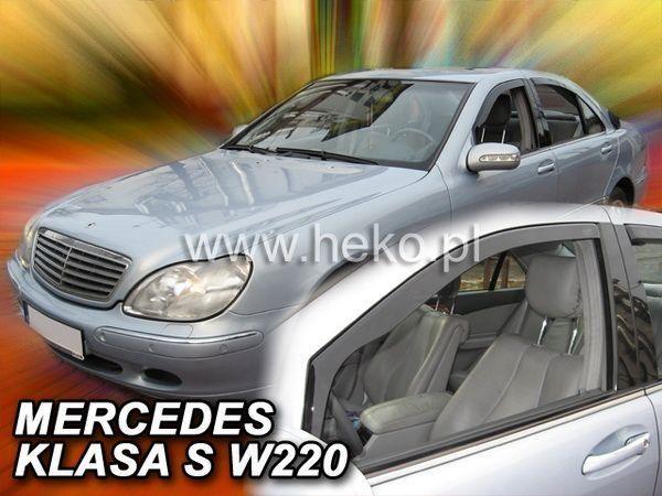 Ветровики (дефлекторы окон) MERCEDES S W220 Short / Long - HEKO - передние