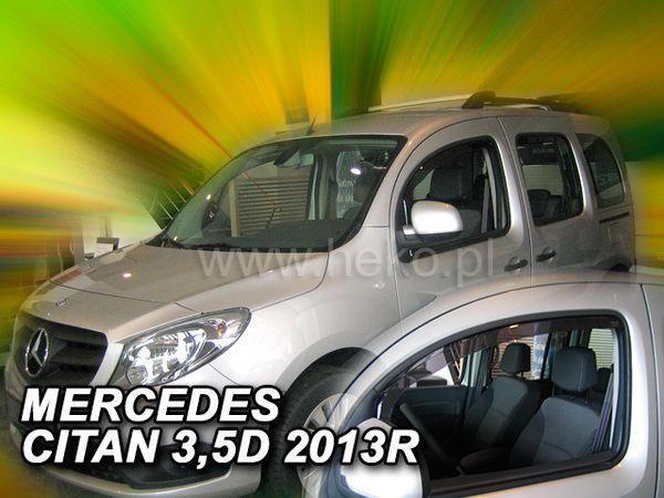 Ветровики MERCEDES Citan W415 (2012-) 3D, 5D HEKO 2 шт.