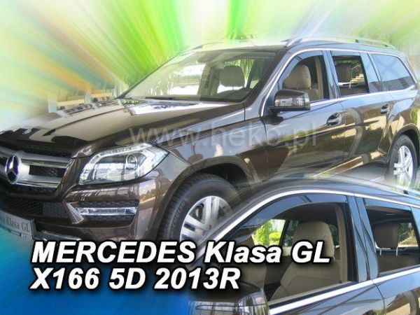 Ветровики MERCEDES GL / GLS X166 (2013-) - HEKO - полный комплект