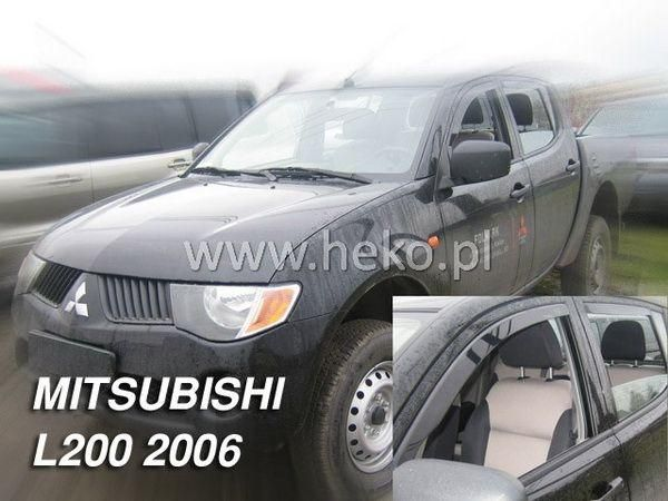 Ветровики MITSUBISHI L200 DOUBLE/SINGLE CAB (2006-) 2D/4D HEKO