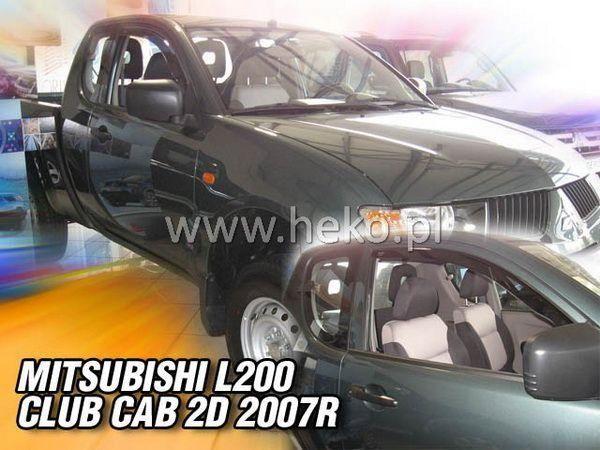 Ветровики MITSUBISHI L200 CLUB CAB (2006-) 2D HEKO