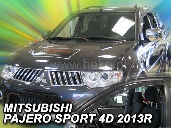 Ветровики MITSUBISHI Pajero Sport II (2009-2015) - HEKO вставные - передние