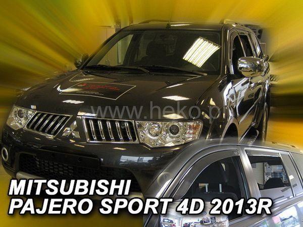 Ветровики MITSUBISHI Pajero Sport II (2009-2015) - HEKO вставные - задние