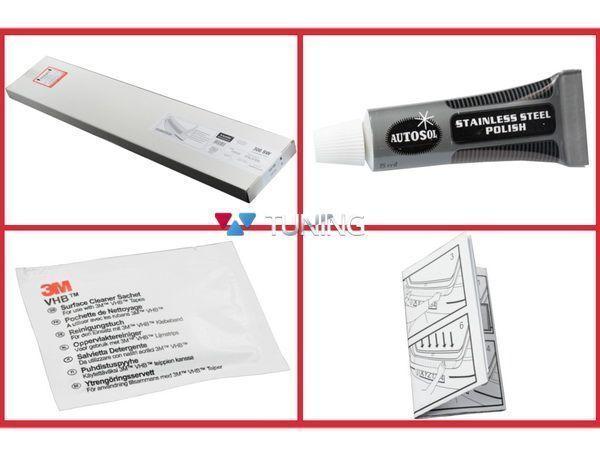 Защитная накладка бампера BMW X4 F26 (2014-) - AVISA - монтажный комплект