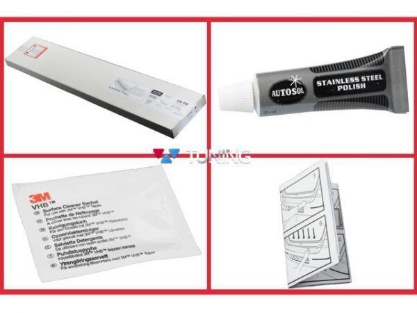 Накладка на задний бампер OPEL Mokka (2012-2016) AVISA - монтажный комплект