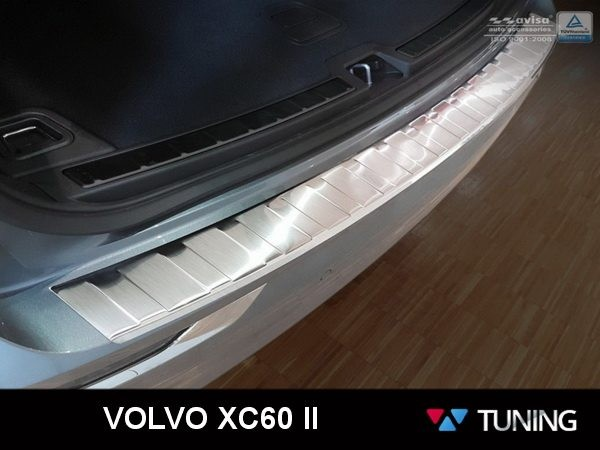 Матовая накладка на задний бампер VOLVO XC60 II (2017-)