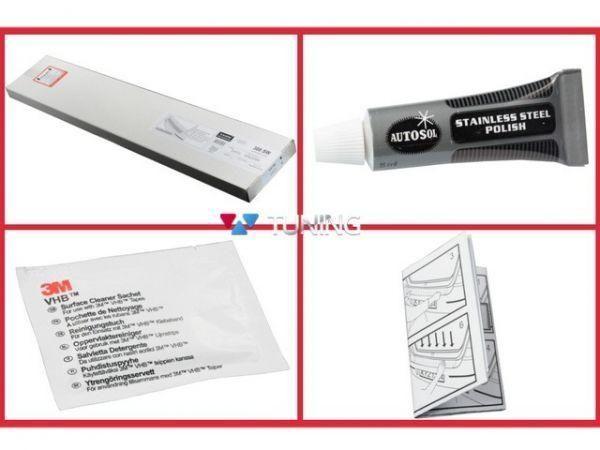 Защитная накладка заднего бампера MERCEDES W169 (08-12) рестайлинг - монтажный комплект
