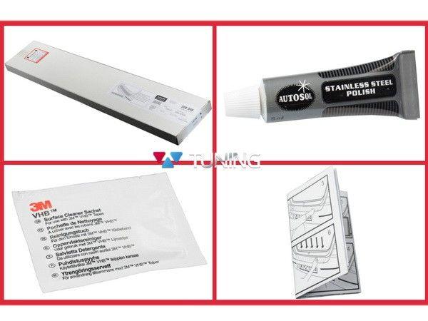Накладка на задний бампер OPEL Vivaro B (2014-) - AVISA - монтажный комплект