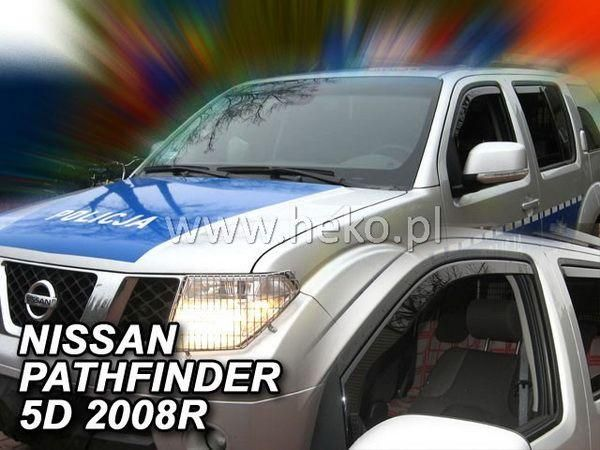 Ветровики NISSAN Pathfinder III (2005-) 5D HEKO
