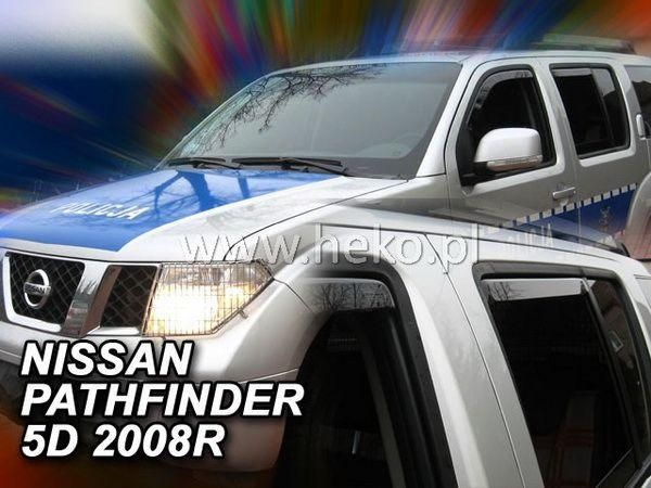 Ветровики NISSAN Pathfinder III (05-14) 5D HEKO