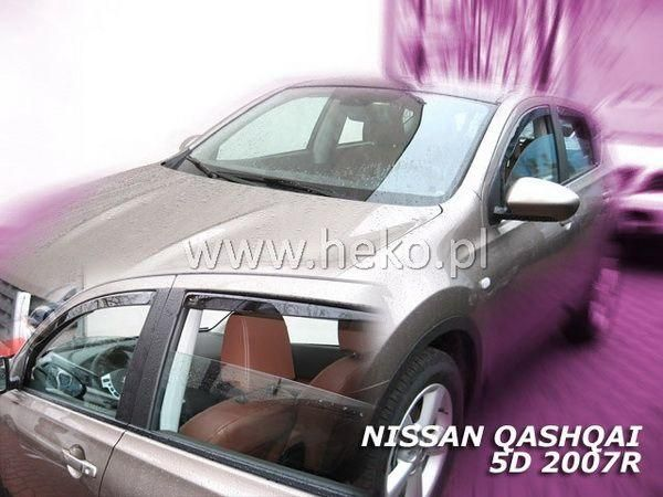 Ветровики NISSAN Qashqai J10 (2007-2013) - HEKO вставные