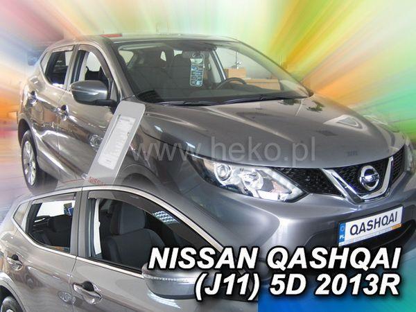 Ветровики NISSAN Qashqai II CC (J11) (2014-) 5D HEKO