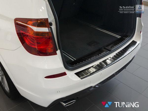Чёрная накладка на задний бампер BMW X3 F25 (2014+) - AVISA- фото #4