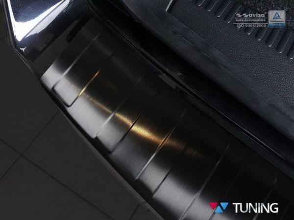 Чёрная накладка на бампер SKODA Octavia III/3 FL (2016+) Combi