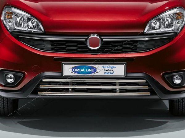 Хром полоски на решётку FIAT Doblo II (2014-) рестайлинг