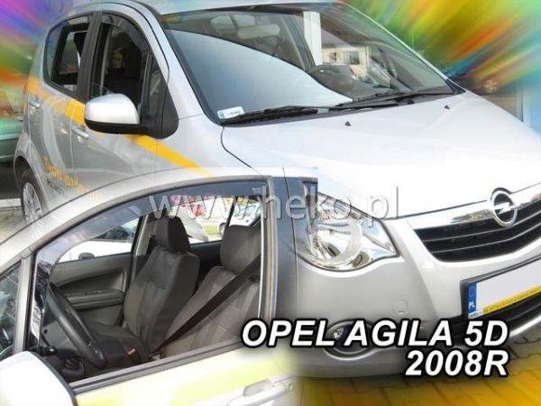 Ветровики вставные OPEL Agila B 5D HEKO