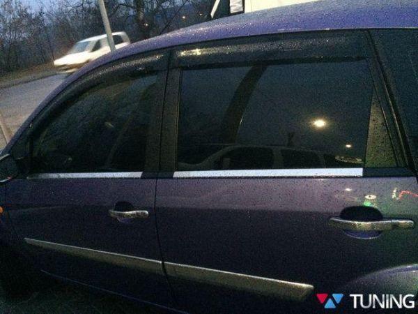 Хром нижняя окантовка стёкол FORD Fiesta Mk6 (02-08) 5D