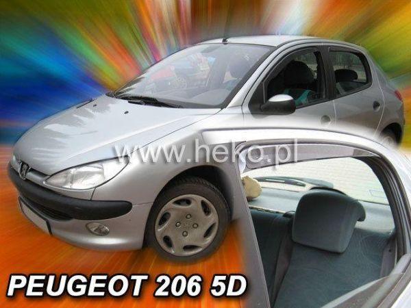 Ветровики PEUGEOT 206 (1998-) 5D Hatchback HEKO