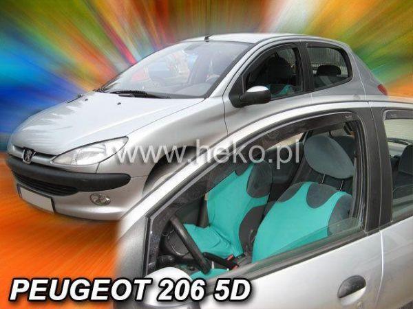 Ветровики PEUGEOT 206 (1998-2010) 3D три двери HEKO