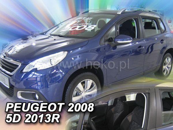 Ветровики PEUGEOT 2008 (2013-) 5D HEKO