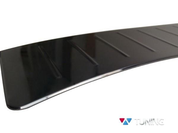 Хром накладка на задний бампер FORD Kuga II (2013-) - OMSA чёрная 2
