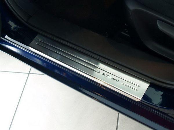 Накладки на пороги (нержавейка) MAZDA 3 BM (2013-) Hatchback