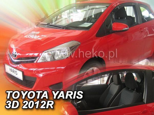 Ветровики TOYOTA Yaris III (2012-) 3D HEKO