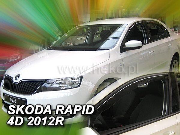 Ветровики SKODA Rapid (2012-) Liftback / Sedan - HEKO - передние