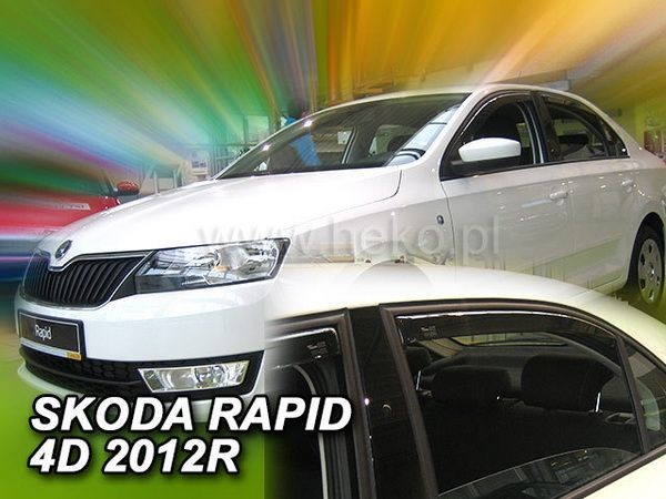 Ветровики SKODA Rapid (2012-) Liftback / Sedan - HEKO - задние
