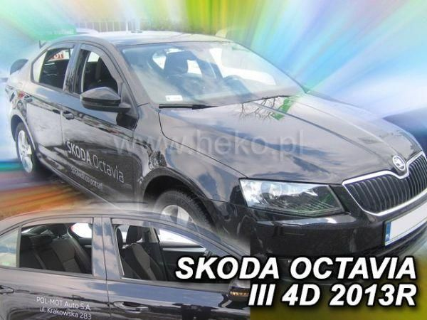 Ветровики SKODA Octavia III A7 (2013-) Liftback HEKO