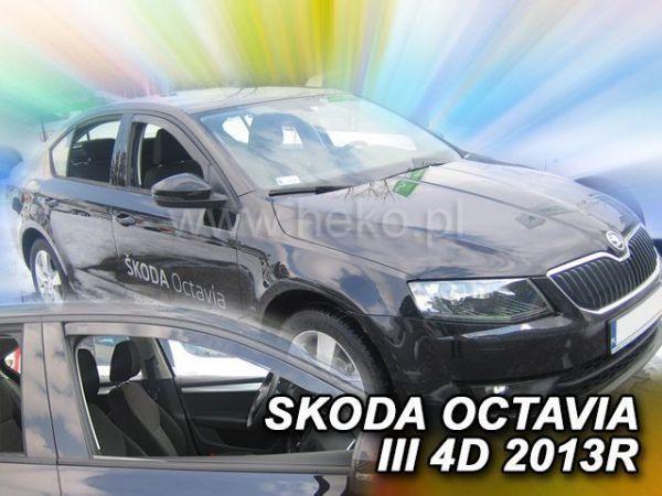 Ветровики SKODA Octavia III A7 (2013-) Liftback HEKO вставные - передок