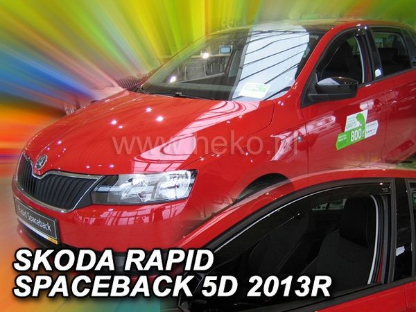 Дефлекторы окон SKODA Rapid (2013-) Spaceback - HEKO - передние