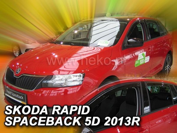 Дефлекторы окон SKODA Rapid (2013-) Spaceback - HEKO - задние