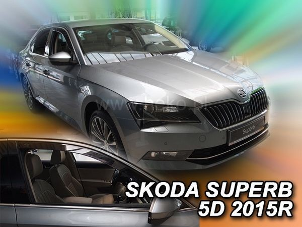 Ветровики SKODA Superb III (B8; 2015-) Liftback - HEKO - передние