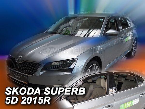 Ветровики SKODA Superb III (B8; 2015-) Liftback - HEKO - полный комплект