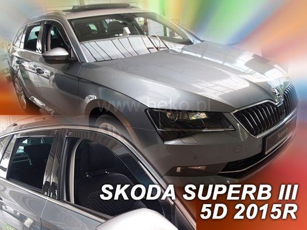 Ветровики SKODA Superb III (B8; 2015-) Combi - HEKO - полный комплект