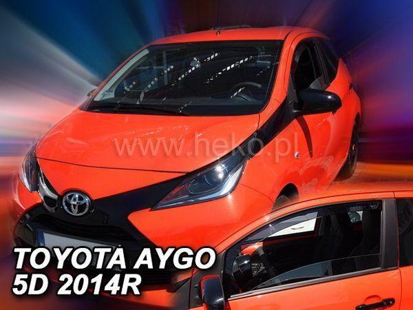 Ветровики TOYOTA Aygo I (2005-2014) 5D HEKO