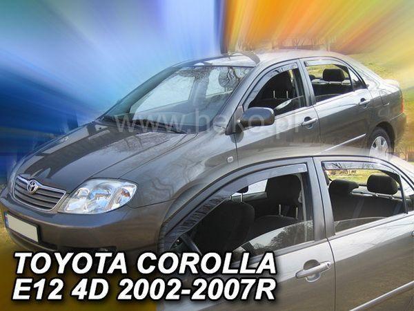 Ветровики TOYOTA Corolla E12 (2002-2006) Sedan HEKO