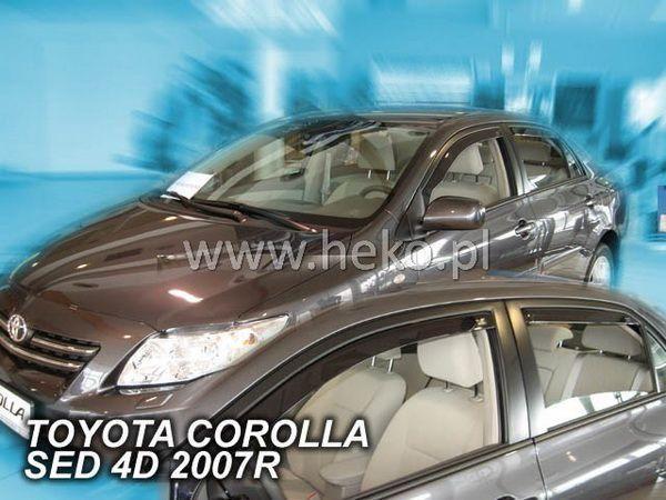 Ветровики TOYOTA Corolla E140/E150 (06-13) Sedan HEKO