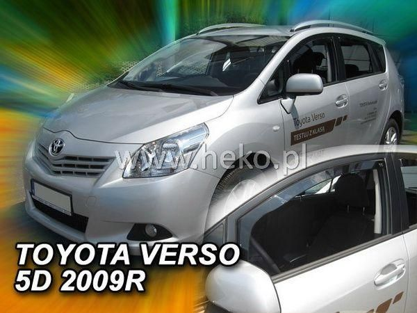 Ветровики TOYOTA Verso III (2009-) 5D HEKO